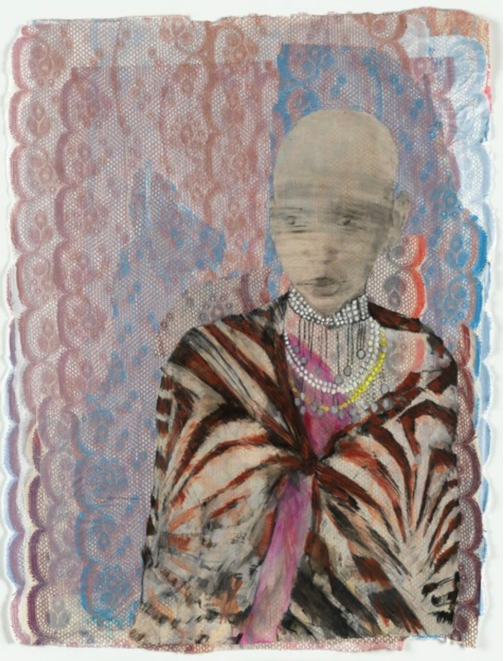 Maasai drawing by Kimberley Gundle