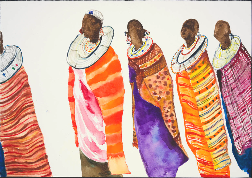 Painting artwork artist Maasai