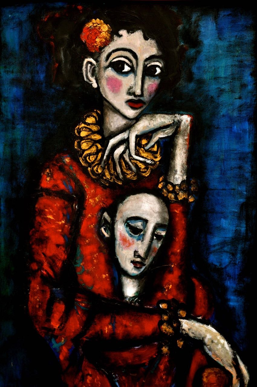 Artist portrait painting