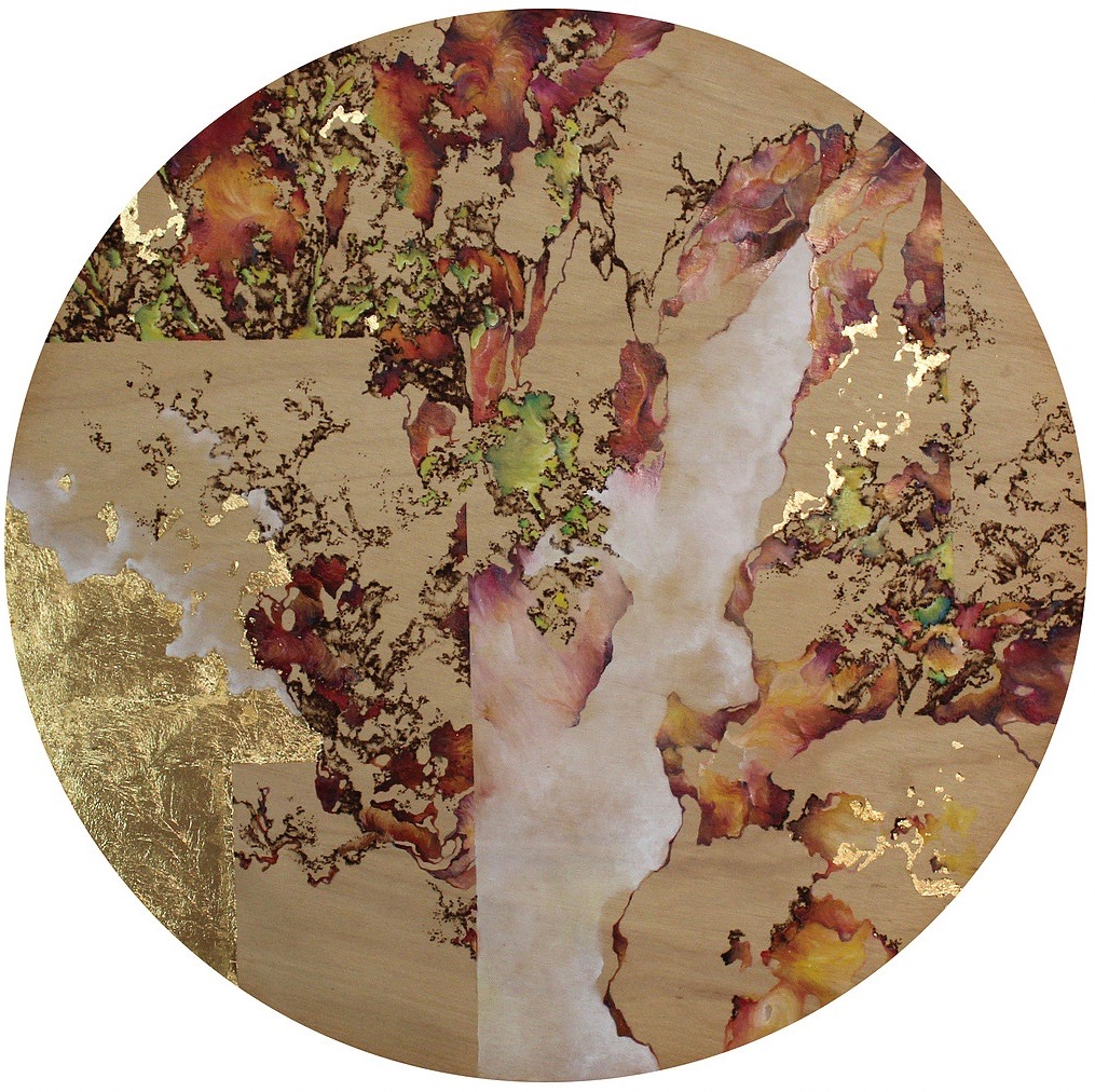 pyrography artwork mixed media