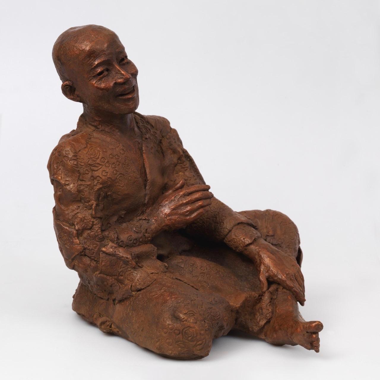 Sculpture of Buddhist Monk by Corinne Chauvet